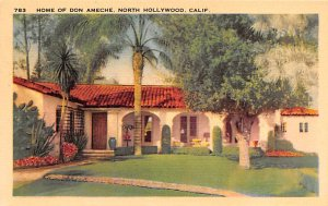 Actor, Movie Star Home Post Card Home of Don Ameche North Hollywood, Californ...