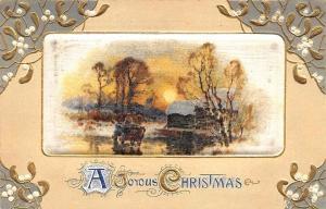 A Joyous Christmas Landscape Satin Finish Postcard