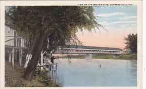 CONNERSVILLE, Indiana, 1900-1910's; View Of The Whitewater