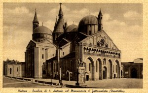 Italy - Padova. Basilica of St Anthony, Gattamelata Monument