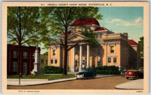 Statesville, North Carolina Postcard IRDELL COUNTY COURT HOUSE Linen 1940s Unuse