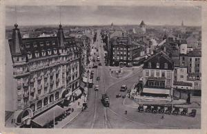 LUXEMBOURG, 1900-1910's; Aerial View, Cable Cars, Classic Cars, Hotel Clesse,...