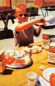 Posey California Poso Heights YMCA Camp Boy Making Lunch Vintage Postcard J76194