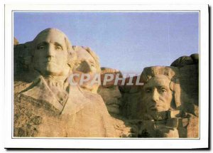 Modern Postcard Mount Rushmore The heads of four presidents