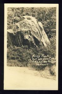 Stowe, Vermont/VT Photo Postcard, King Rock, Smuggler's Notch