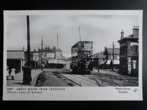 London Tram ABBEY WOOD TRAM TERMINUS Pamlin Print Postcard M497