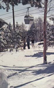 Mont Sainte-Anne , Quebec , Canada , 1950-60s ; Skiing