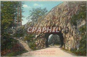 Postcard Old Surroundings tunnel Schlucht rock devil