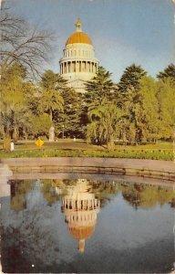 Sacramento, CA, USA State Capitol 1949 PU Missing Stamp
