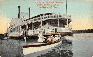 LP40  Riverboat  Jeffersonville Indiana Vintage Postcard Ferry
