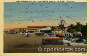 Lindbergh Field And Administration Building, San Diego, CA USA Airport Unused...