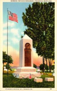 Maryland Frederick Barbara Fritchie Monument