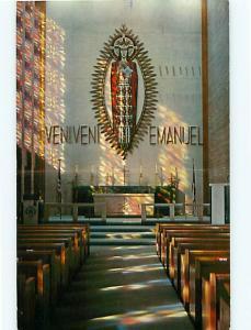 Postcard Christ the King Veniveni Emanuel Lutheran Church Bay City Michigan # 86