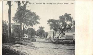 Chelsea Vermont~South Over Iron Bridge~Tin Shop~Homes~Bixby's Store Pub~1907 PC