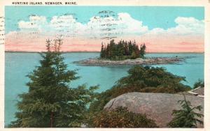 Newagen, Maine, ME, Hunting Island, 1933 Antique Vintage Postcard f8609