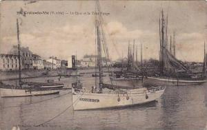 Sailboats/Boats, La Quai Et La Tour Rouge, Croix-de-Vie (Vendee), France, PU-...