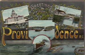 PROVIDENCE, Rhode Island, 1908; Greetings, 5-views