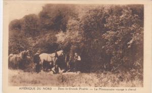 Missionaries w/ Horses in Grande Prairie, Northwest Territory, Canada, 1930-40s