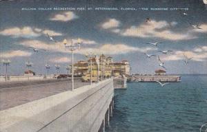 Florida Saint Petersburg Million Dollar Recreation Pier 1946