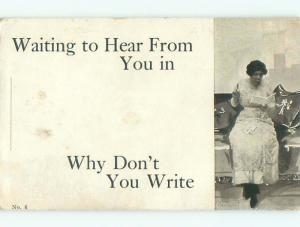 Divided-Back PRETTY WOMAN Risque Interest Postcard AA7780