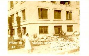 CA - Long Beach Earthquake, Mar. 10, 1933. Seaside Hospital, Front *RPPC