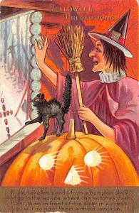 Halloween Post Card Old Vintage Antique A. Livingston 1913