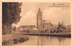 672 Sweden 1910 Oidenaarde, Zicht op de St-Walburga Kerk en Schelde