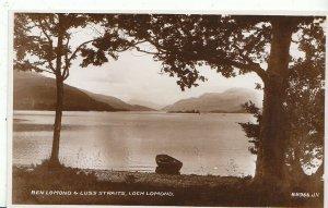 Scotland Postcard - Ben Lomond & Luss Straits - Loch Lomond - Real Photo  ZZ40