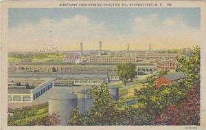 New York Schenectady Birds Eye View General Electric Co