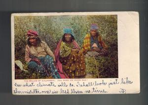 1906 Los ANgeles CA USA Postcard Cover Native American Indian Women 100 Year Old
