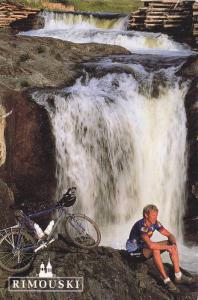 Biking the River Trails, Waterfall, La Riviere Rimouski, Rimouski, Quebec, Ca...