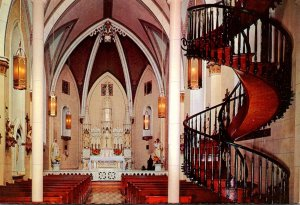 New Mexico Santa Fe Chapel Of Loretto Famous Stairway