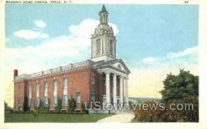 Masonic Home Chapel Utica NY Unused