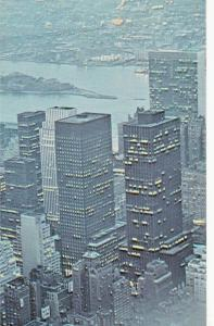 Manhattan Island by air mail Qantas advertising postcard