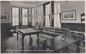 Billiards Room Convalescent Home St Leonards On Sea Sussex Postcard