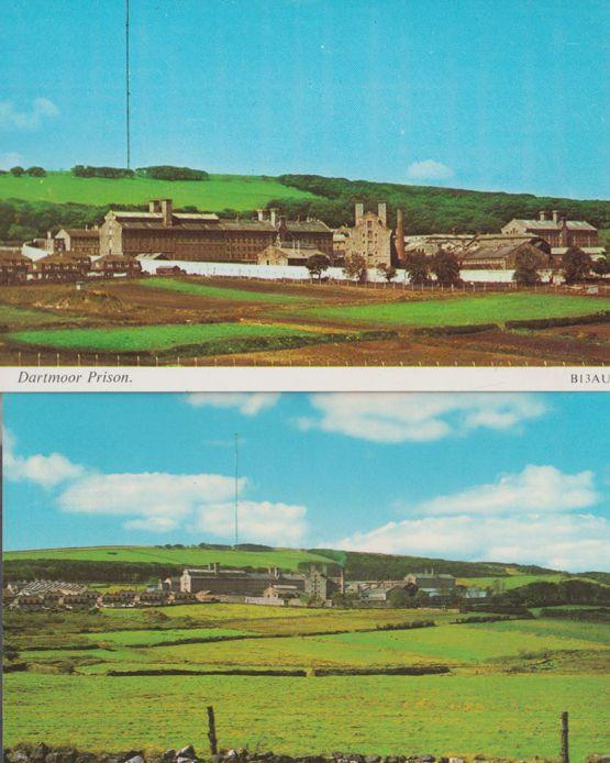 Dartmoor Prison 2x 1970s Postcard s