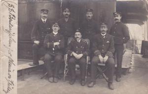 RP: Ships Officers of S.S.Beularij , Anvers , Belgium , 1905