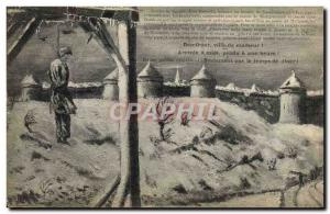 Old Postcard Domfront misfortune City Hangman