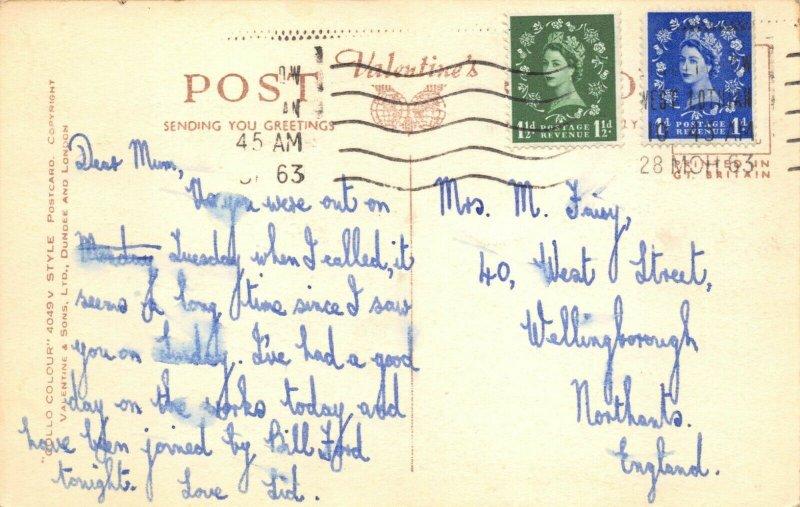 Vintage 1963 Postcard, Linlithgow Palace West Lothian Scotland 84X