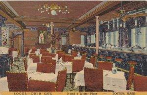 Massachusetts Boston Locke-Ober Cafe Interrior Curteich sk4304