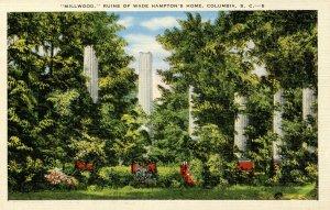 SC - Columbia. Millwood, Ruins of Wade Hampton's Home
