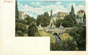 Postcard Stuttgart Galateabrunnen Eugensbrunnen Baden-Württemberg Germany
