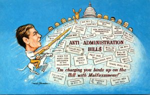 Political Humour Ronald Reagan Anti-Administration Bills