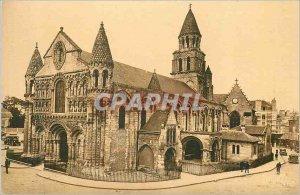 Old Postcard Poitiers Notre Dame La Grande (twelfth century)