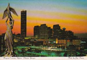 Georgia Atlanta The Skyline Showing Phoenix Bronze Statue