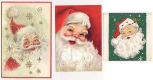 4 - Old Santa Cards - Damaged