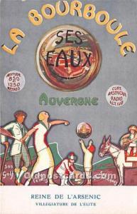 Advertising Postcard - Old Vintage Antique Reine De L'Arsenic La Bourboule