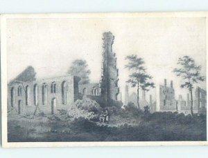 1940's TRINITY CHURCH RUINS IN OLD DAYS New York City NY AD0670