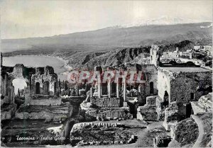 Postcard Modern Taormina Teatro Greco Scena