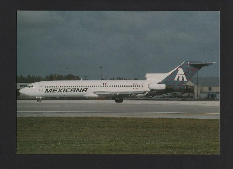 POSTCARD AIRPLANE BOEING 727 MEXICANA AIRCRAFT AVIONS AVIONES MEXICO z1